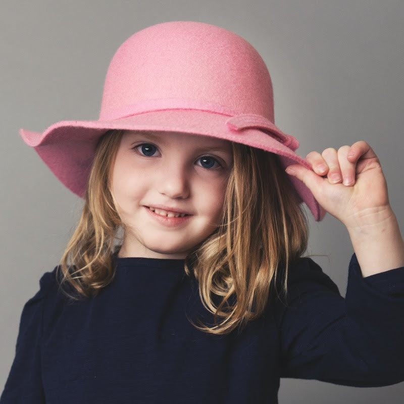 Love Henry Wool Felt Hat -Pink