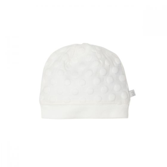 Bebe Spot Layette Beanie in Cloud