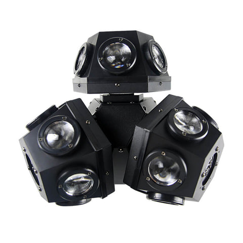 Three-arm moving head light