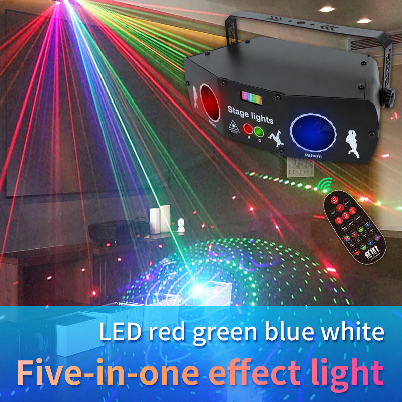 Five-in-one laser stage light