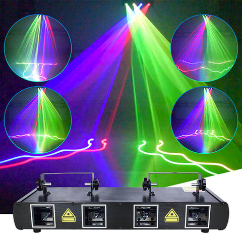 KTV™Four-head full-color beam laser light