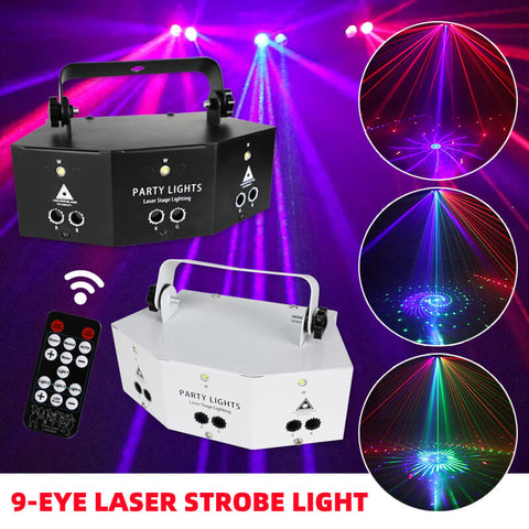 Nine Eyes Laser Strobe Light
