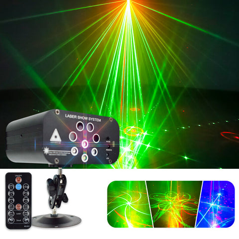 8-hole laser light