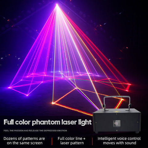 Full color laser pattern light