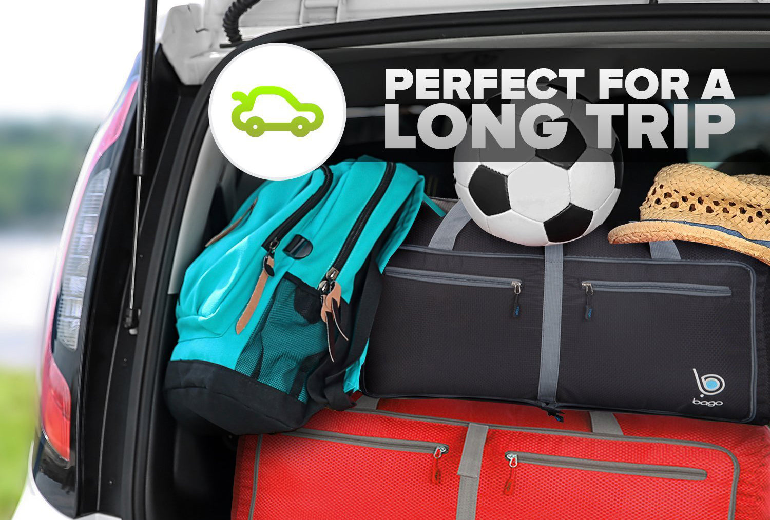 d2cb4d10864c Car Travel Tip - Why The Duffel Bag Is Perfect – BagoTravelBags