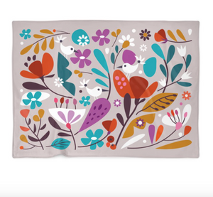 """Bird Song"" Fleece Blanket"