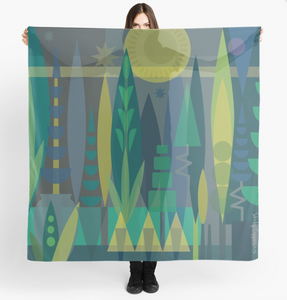 """TOPIARY GARDEN"" Art Scarf"