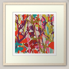 "Load image into Gallery viewer, ""OVERGROWN"" Irish Linen Printed Fabric Panel"