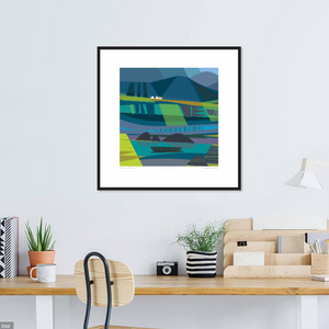 """CONNEMARA EVENING"" ART PRINT UNFRAMED"