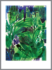 """PALM GARDEN"" ORIGINAL INK PAINTING UNFRAMED"