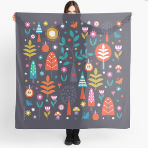 """The Night Forest"" Art Scarf"
