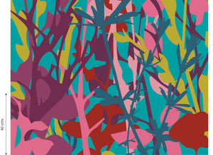 """TWIGS"" Irish Linen Printed Fabric Panel"