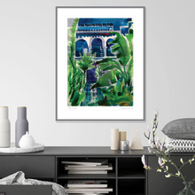 "Load image into Gallery viewer, ""VILLA LAZULI"" ART PRINT UNFRAMED"