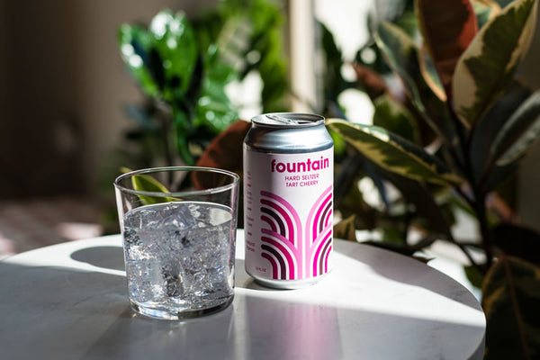 Enjoy fountain hard seltzer on ice