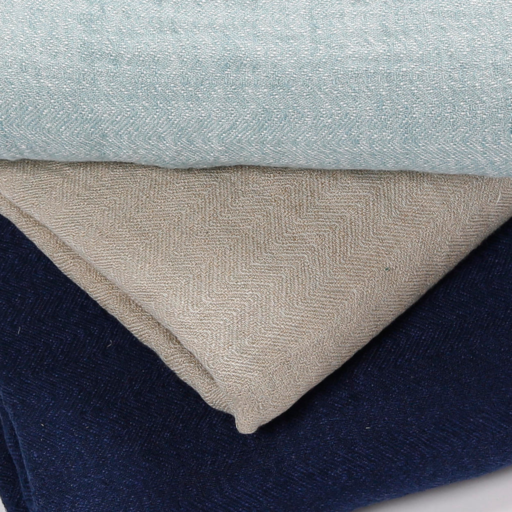 THROW HERRINGBONE 'ARUN' - Throws - SCAPA HOME - SCAPA HOME OFFICIAL