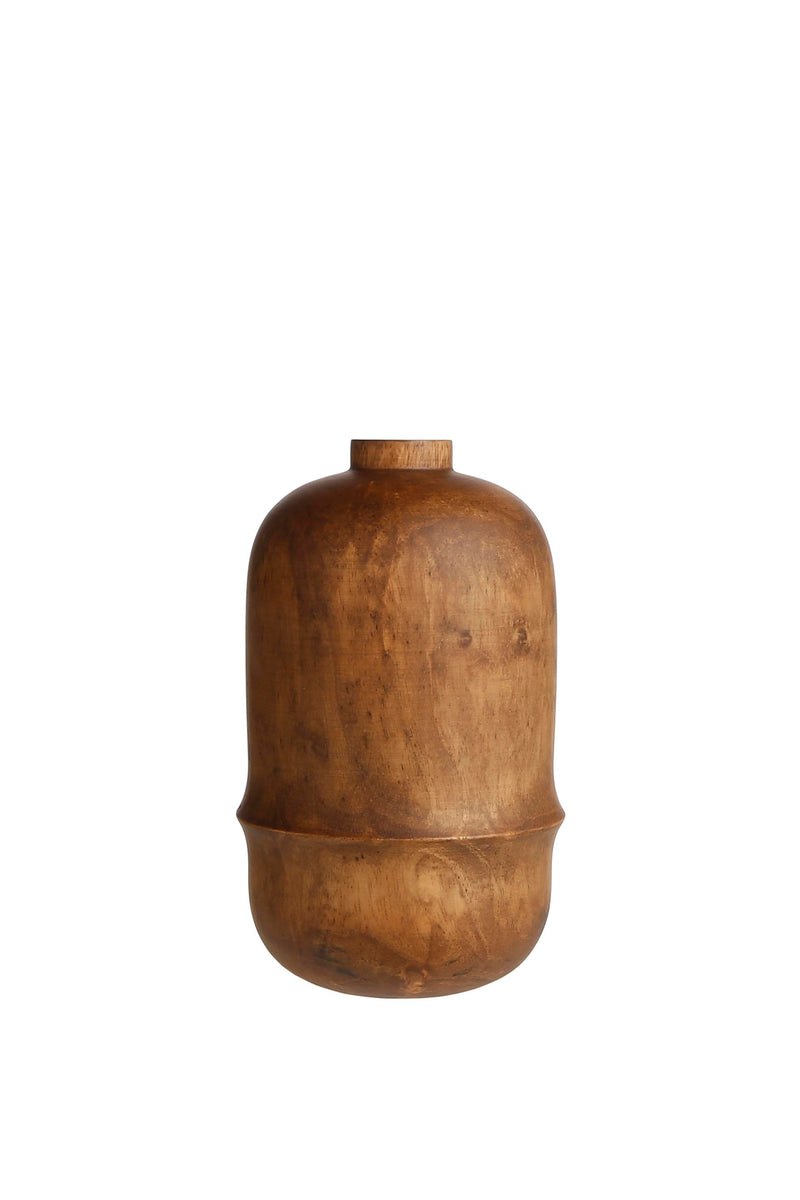 WOODEN VASE 'LATHE' - Vases - SCAPA HOME - SCAPA HOME OFFICIAL