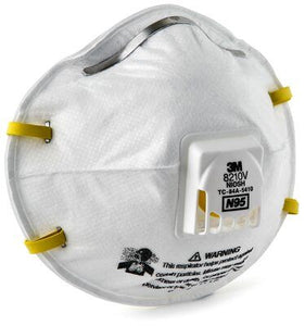 3M 8210V N95 Particulate Respirator Masks (10 Pack), Cool Flow Valve, NIOSH Certified