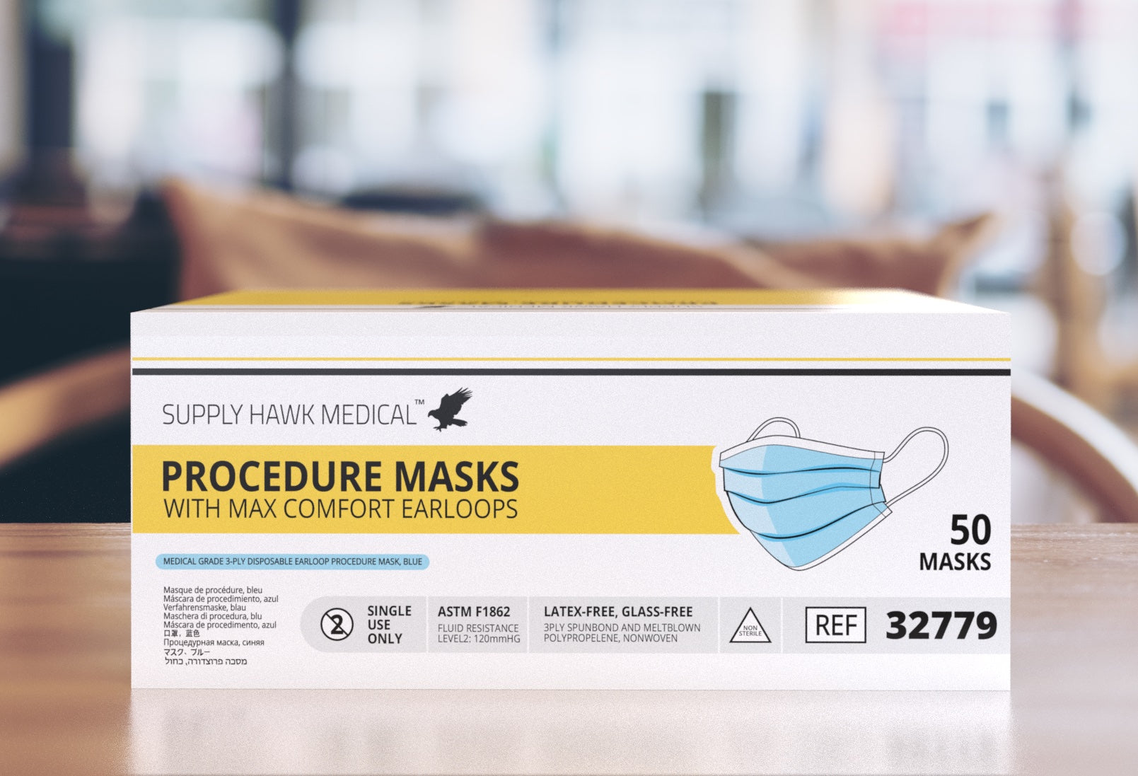 Medical-Grade Procedure Mask with Fluid Resistance