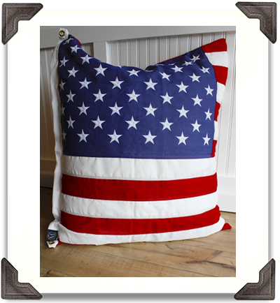 American Flag Pillow - Square