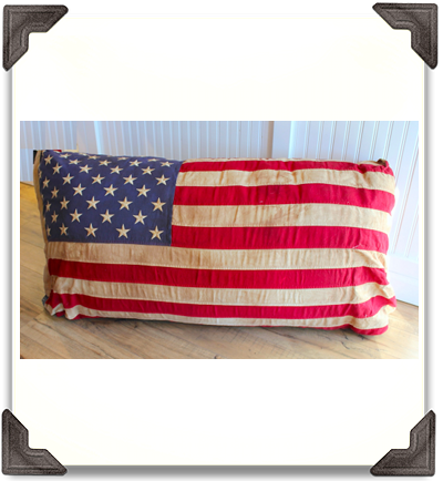 American Flag Pillow - Large