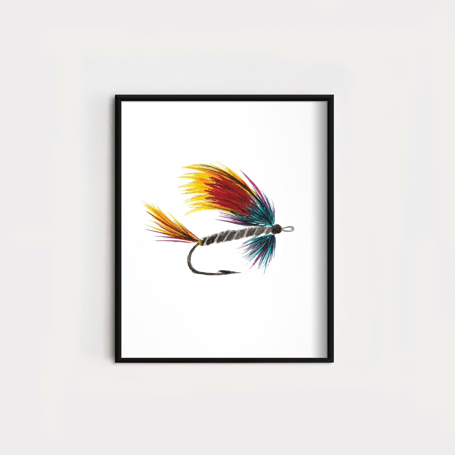 Red/Blue Fishing Fly Original
