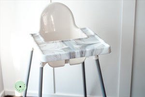 MARBLE Highchair Coverall Silicone Placemat 2.0 | IKEA Antilop Mats High Chair Place Mat