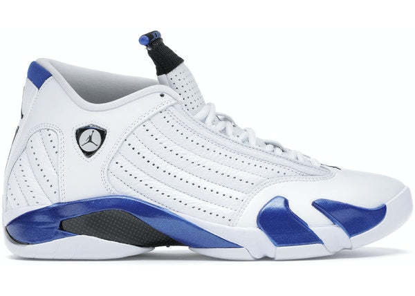 Load image into Gallery viewer, Jordan 14 Retro White Hyper Royal