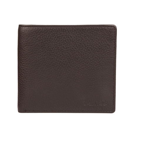 Billetera Dents Leather Billfold RFID Café Oscuro Dent´s