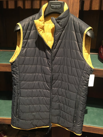 Chaqueta Gilet Reversible 100% Nylon Blue/Gold Brook Taverner
