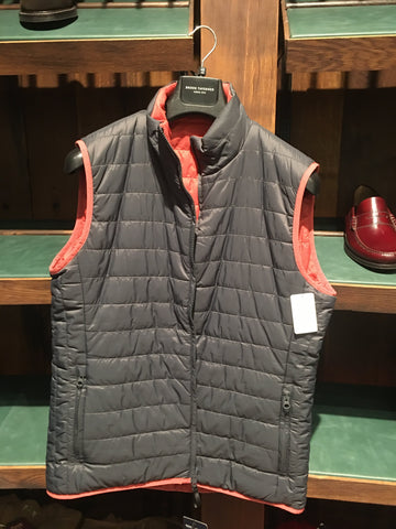 Chaqueta Gilet Reversible 100% Nylon Blue/Ruby Brook Taverner