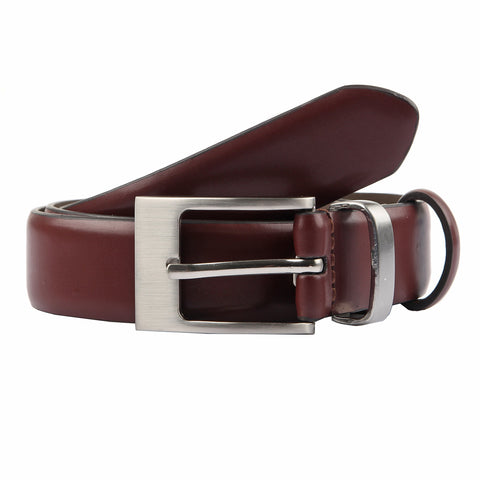 Cinturón Dents Leather Feathered Edge Chestnut/Plata Dent´s