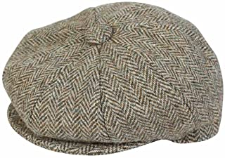 Gorro Harris Tweed Baker Boy Brown Glen Appin
