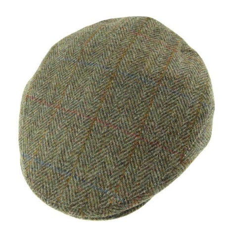 Gorro Harris Tweed County Cap Green HB Glen Appin