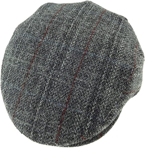 Gorro Harris Tweed County Cap Grey Check Glen Appin