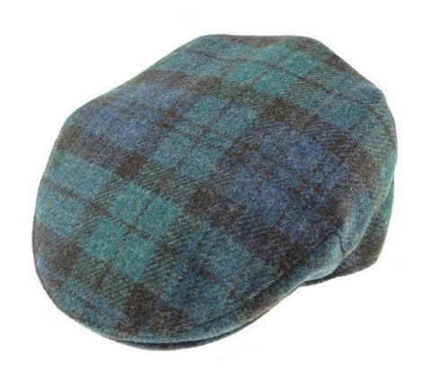 Gorro Harris Tweed Shetland Wool Tartan Black Watch Glen Appin