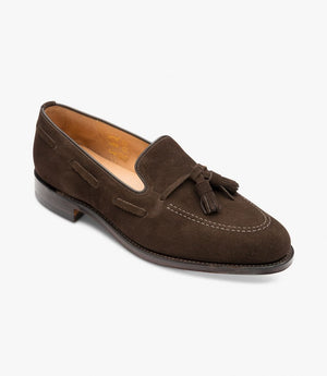 Lincoln<br> Dark brown suede<br> Ancho: F  / Suela Loake