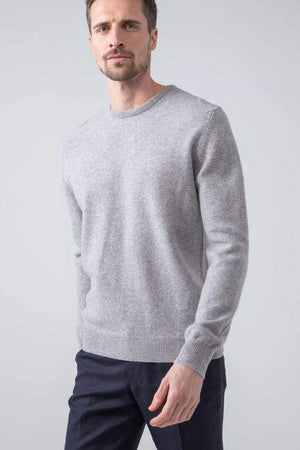 Sweater Round 100% lambswool Silver Johnstons
