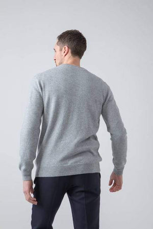Sweater V 100% lambswool Silver Johnstons