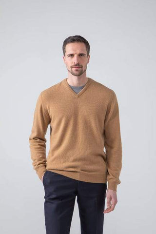 Sweater V camelhair 100% William Lockie
