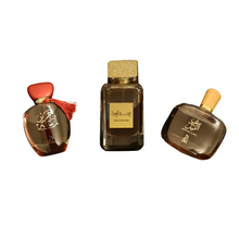 Load image into Gallery viewer, SET OF 3 OF BESTSELLERS - LAMSAT HARIIR, OUD AL LAYL AND KHASHAB & OUD
