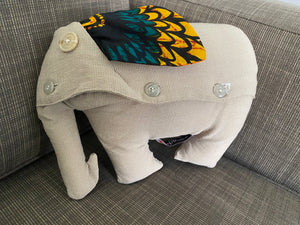 Open image in slideshow, Small Elephant Cushion