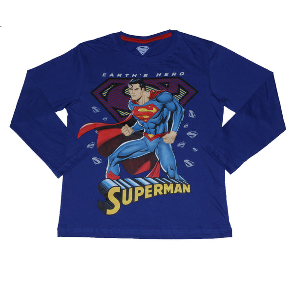 Polo Superman Manga Larga Niño