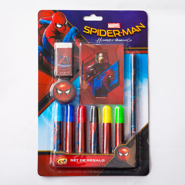 Set Plumones Spider-Man Niño
