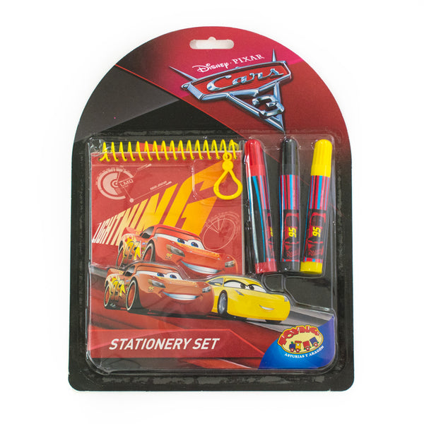 Set Libreta Cars Niño