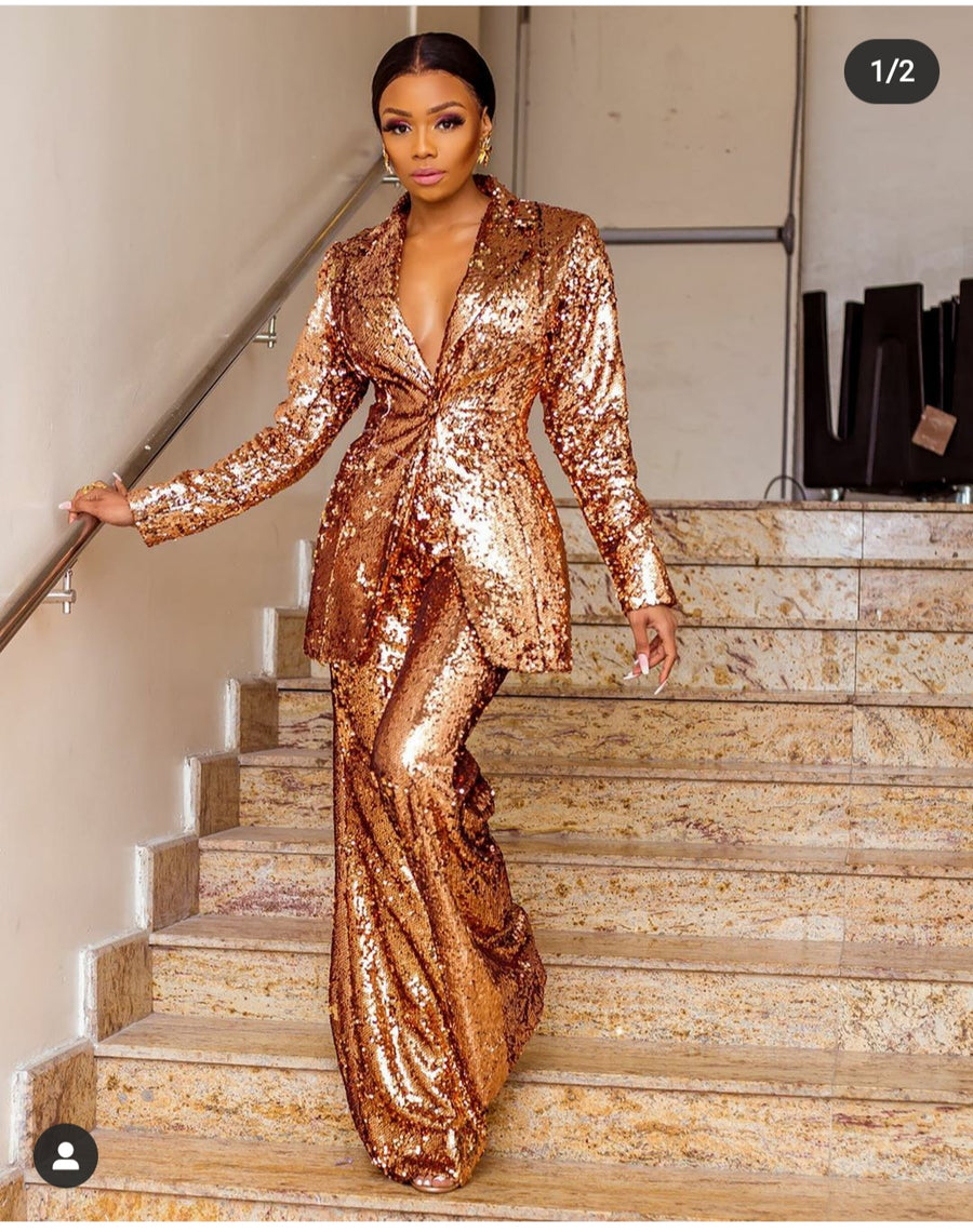Bawse Sequin Suit