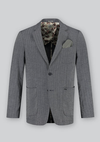Slim Fit Blazer in Linen Blend