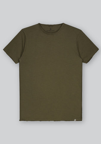Raw Edged Crew Neck T-Shirt
