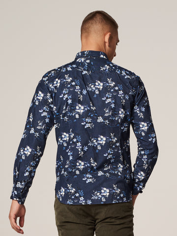 Slim Fit Shirt in Navy Floral