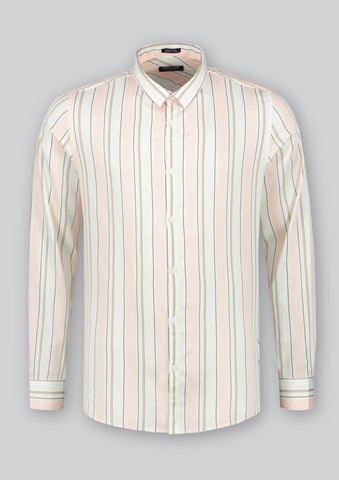 Sateen Shirt in Pink Stripe