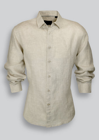 Blake Shirt in Oatmeal Linen